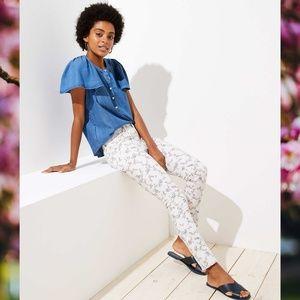 Loft Spring Floral Modern Skinny Jeans - So cute!!